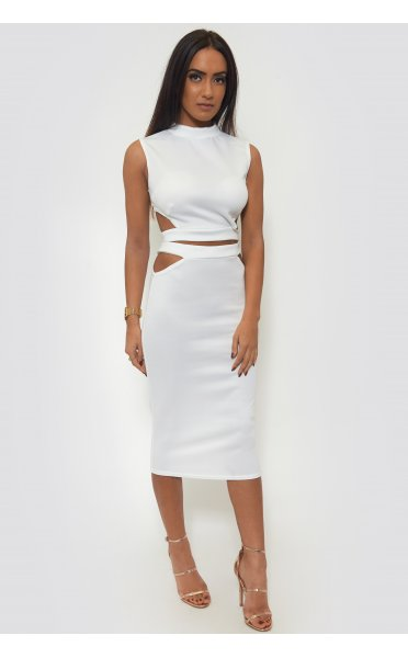 Tempest Bodycon Skirt & Boxy Top In White - from The Fashion Bible UK