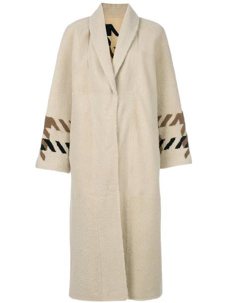 Sprung Frères coat fur women nude