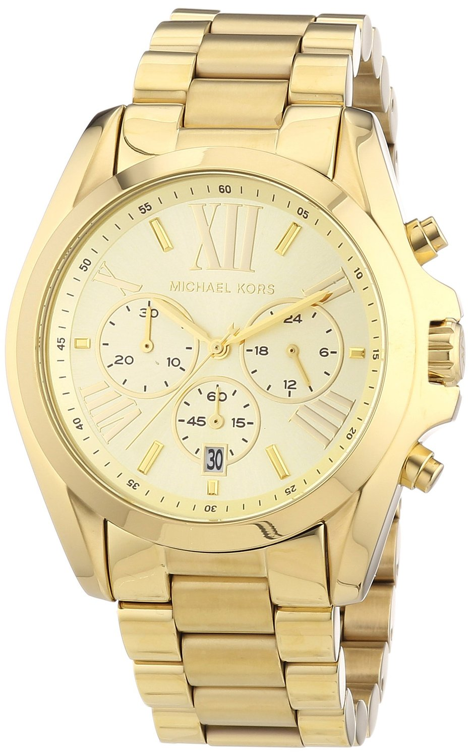 Amazon.com: Michael Kors Bradshaw Chronograph Gold-tone Unisex Watch MK5605: Michael Kors: Watches