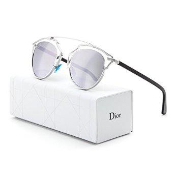 022eab8e04 Dior Women s Dior So Real Palladium   Crystal   Black Frame Silver Mirror  Lens Metal Sunglasses  Christian Dior  ...