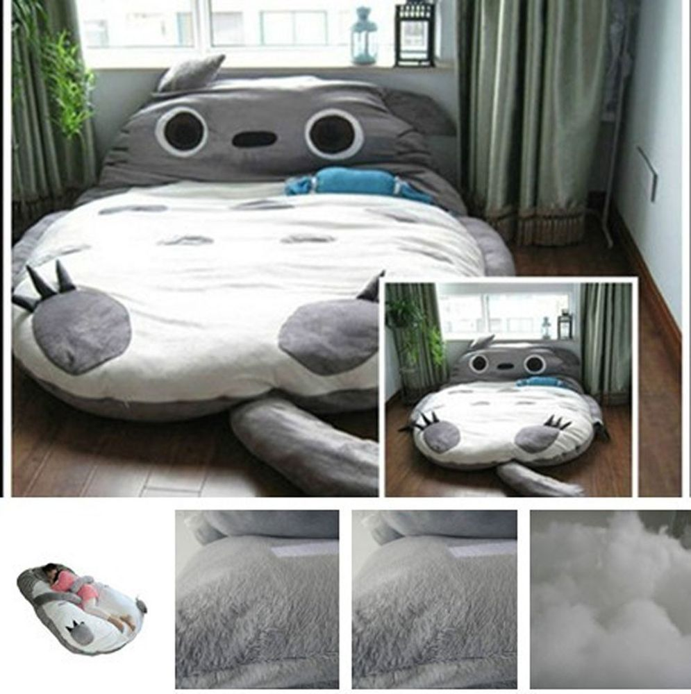 2015 new huge comfortable cute cartoon totoro bed sleeping bag pad 290*160cm