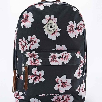bag obey backpack swag school bag old school vans floral boho flowers urban urban outfitters hype nike blogger pink black