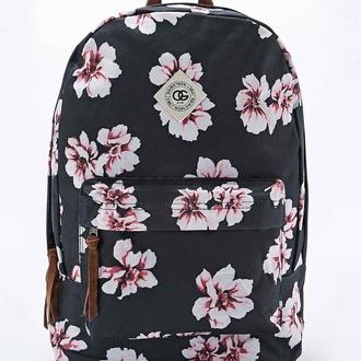 bag obey backpack swag school bag old school vans floral boho flowers urban urban outfitters hype nike blogger pink black
