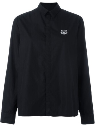 shirt tiger black top