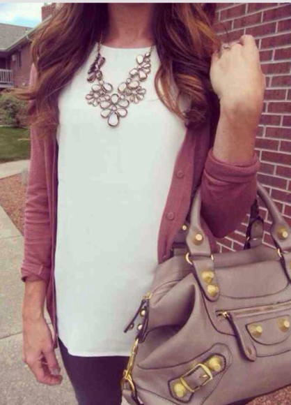 hair bow style hair accessories jewels top necklace sweater bag t-shirt shit happens shirt pants pretty little liars outfit boots shoes ting ring cardigan