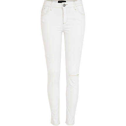 White skinny ripped jeans womens – Global fashion jeans collection