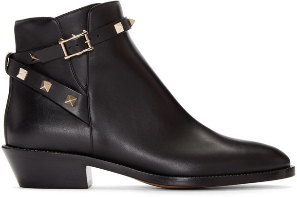 Valentino boots ankle boots black shoes