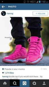 shoes,aj 11 pink tetris