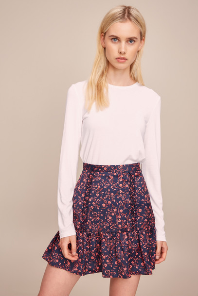 THE FIFTH ARCHER SKIRT navy w pink