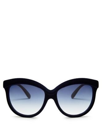 sunglasses velvet navy