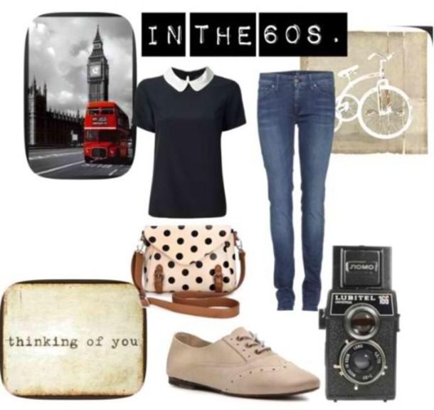 blouse jeans bag shoes