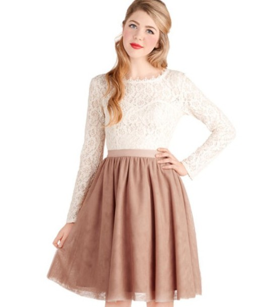 Lace Blouse And Skirt 40