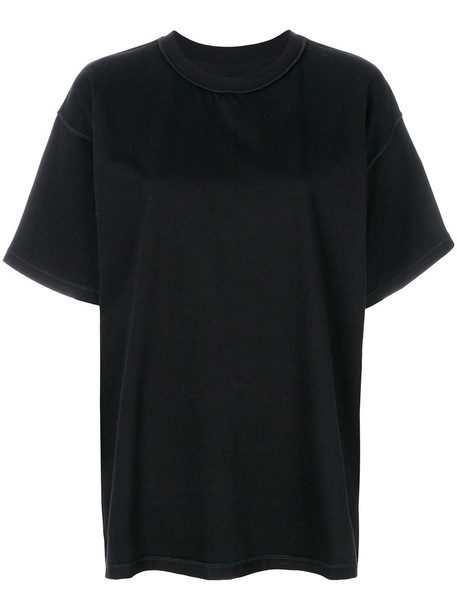 Mm6 Maison Margiela t-shirt shirt t-shirt women cotton black top