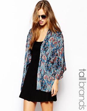 Glamorous Tall | Glamorous Tall Paisley Print Kimono at ASOS