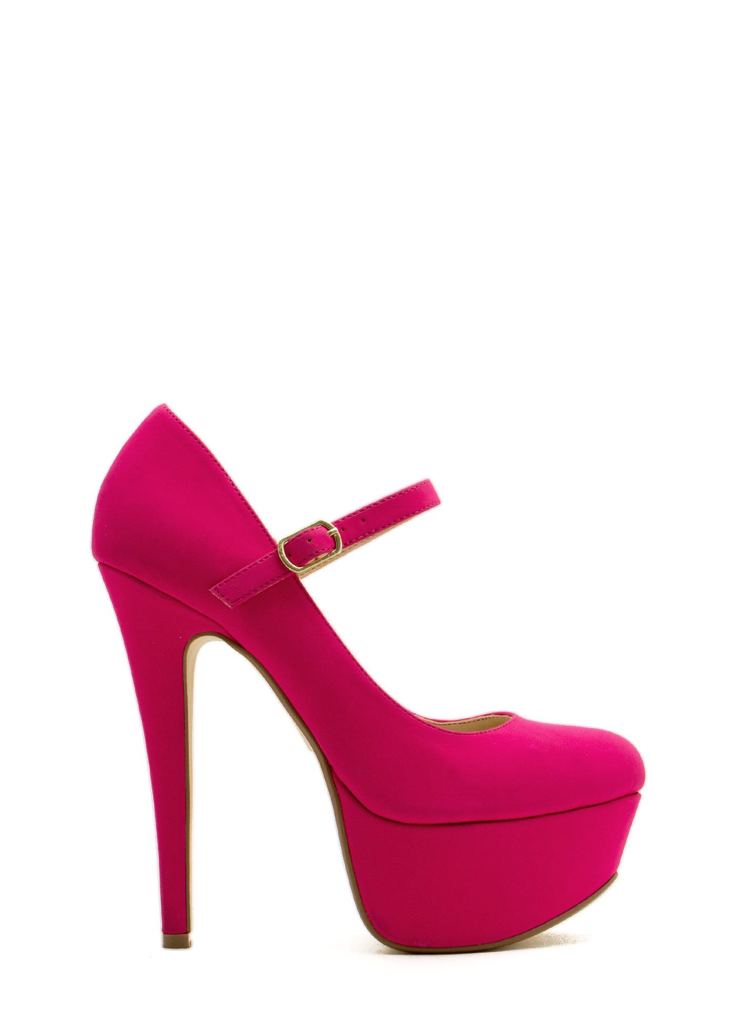 Return of mary jane faux nubuck heels leopard magenta