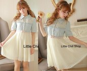 dress,blue dress,cute dress,kawaii dress,blouse