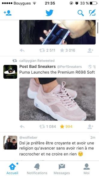 shoes pink pale sneakers puma sneakers puma pastel sneakers nude