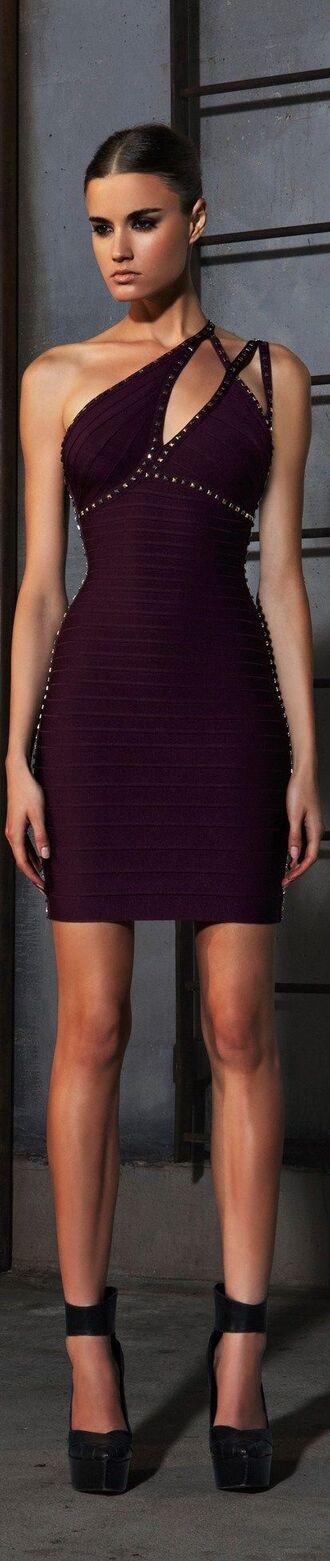 dress bandage dress sexy dress mini dress purple dress
