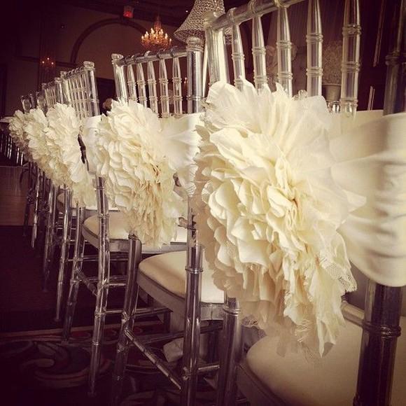 ivory scarf decoration wedding accessories reception diy home decor wedding decor