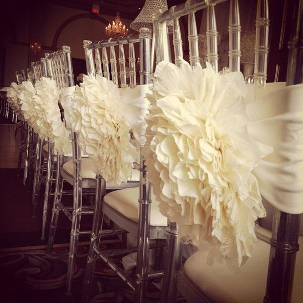 Scarf ivory decoration wedding accessories reception diy home like follow junglespirit Images