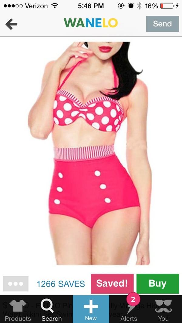 swimwear pink swimwear vintage