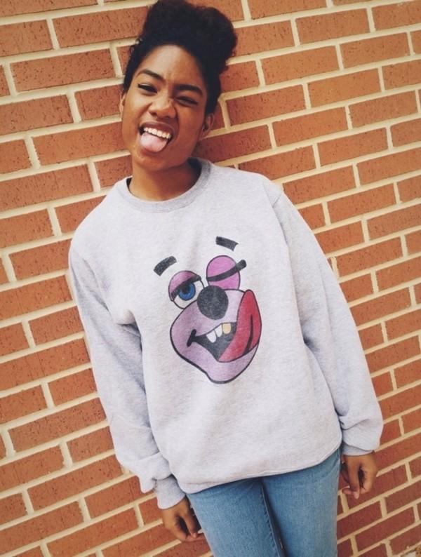 sweater miley cyrus miley cyrus sweatshirt vma sweatshirt bear