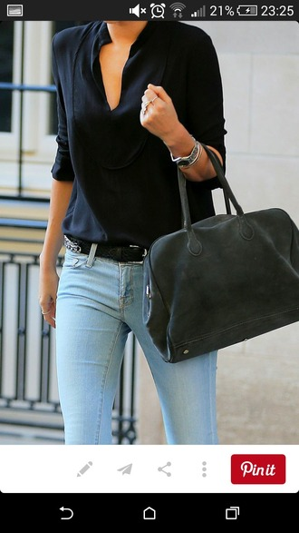 top black top blouse chic