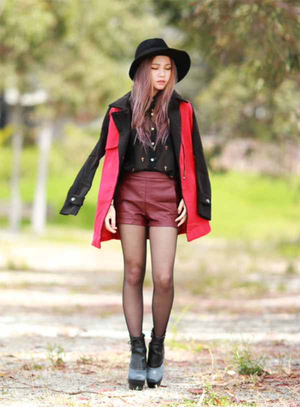 chloe ting jacket shorts shoes hat