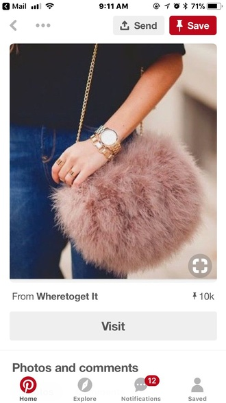bag furry bag