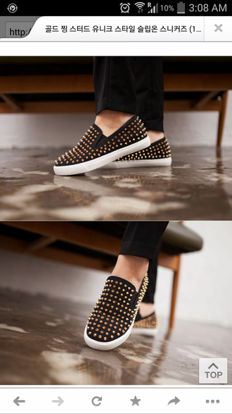 shoes studded shoes studs spikes shoes slip on shoes