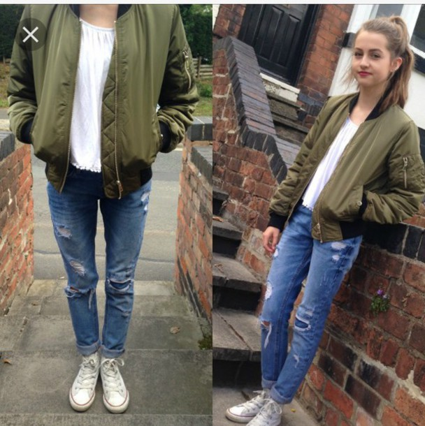 Jacket: women, olive green, bomber jacket, green, girl, black ...