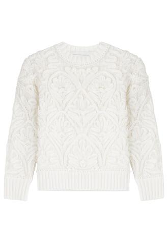 pullover cotton white sweater