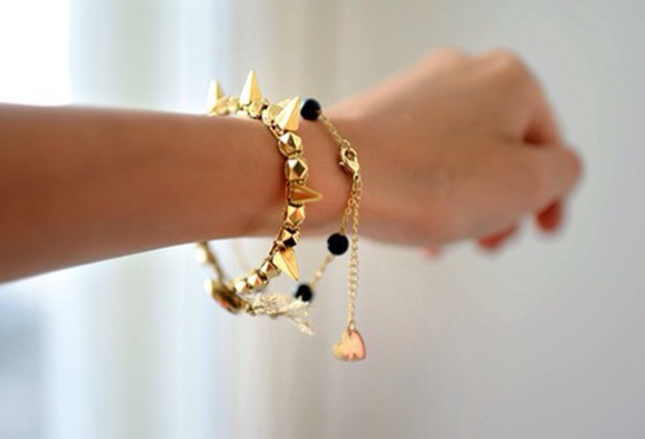 spikes jewels bracelets