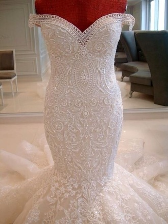 dress white wedding dress sweatheart glamour bride