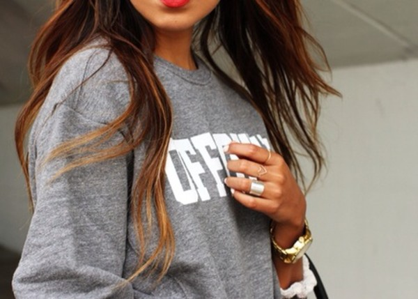 sweater jewels grey sweater fashion girly cosy sweaters top