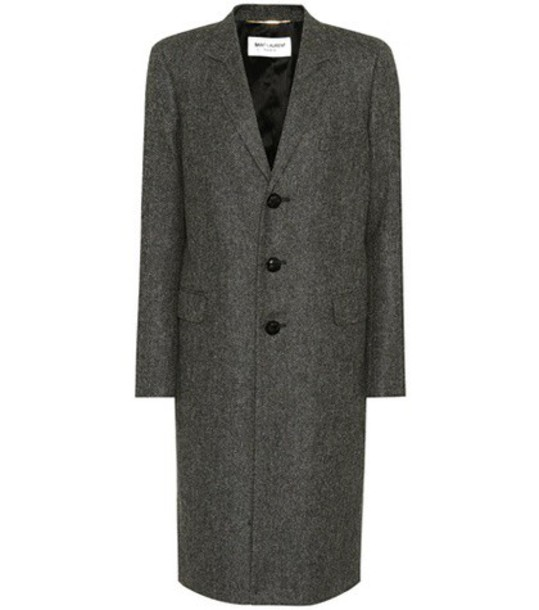Saint Laurent coat wool coat wool grey
