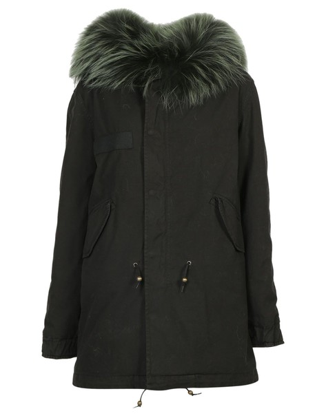 Mr & Mrs Italy parka midi london green coat