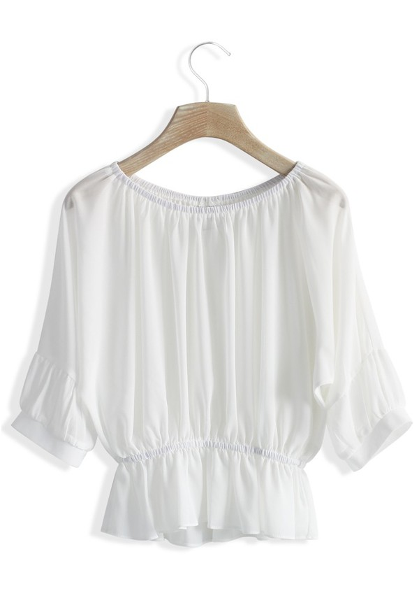 top chicwish ruffle off the shoulder top
