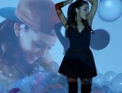 dress,ariana grande,skater,black,black dress,skater sdress,the way,little black dress,shoes,open backed dress,open back