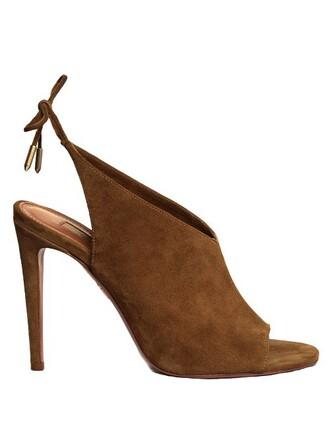 back sandals suede khaki shoes