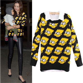 Aliexpress.com : Buy women Carton young bart man simpson pullover knitted sweater sweat retro fashion Simpsons loose jeremy Scott GD from Reliable knit turtleneck sweater suppliers on punkstyle | Alibaba Group