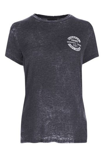 Topshop t-shirt shirt t-shirt grey top