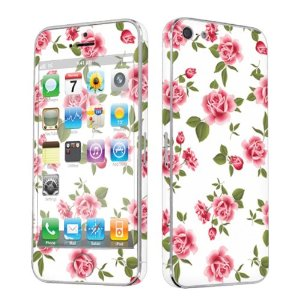 Amazon.com: Apple iPhone 5 Full Body Vinyl Decal Protection Sticker Skin White Rose Garden: Cell Phones & Accessories