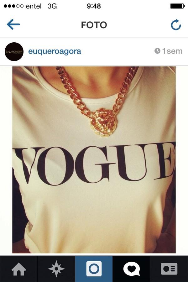 t-shirt vogue euqueroagora tshirt