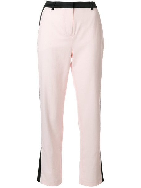 summer women wool purple pink pants