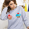 Lady's gorgeous sweet pancakes printed fleece sweatshirt