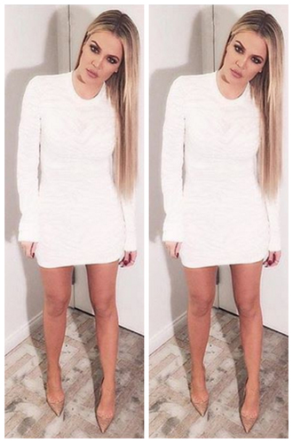 dress khloe kardashian mini dress bodycon dress pumps