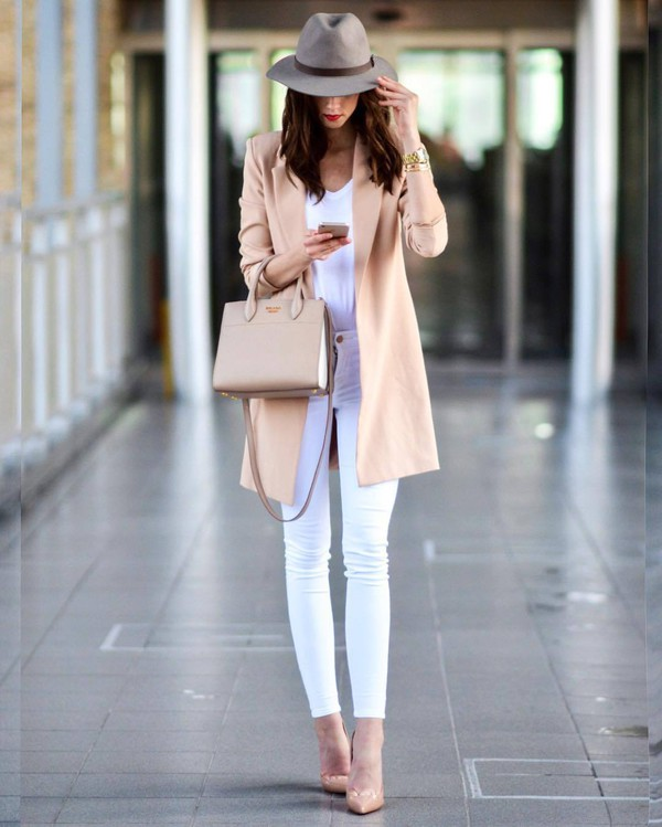 coat tumblr classy work outfits office outfits pink