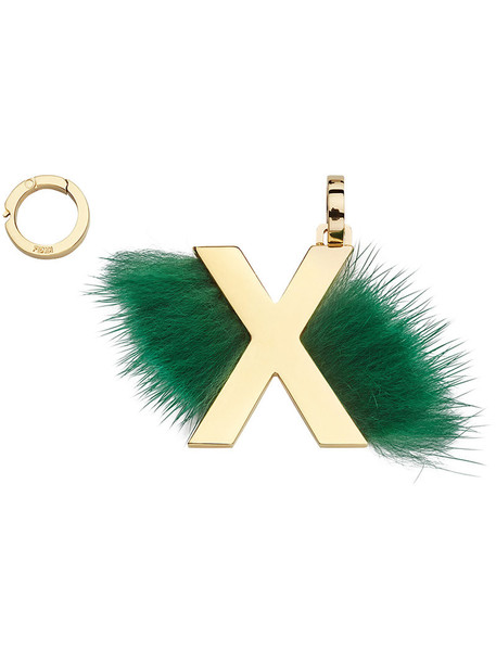 Fendi fur women pendant green jewels