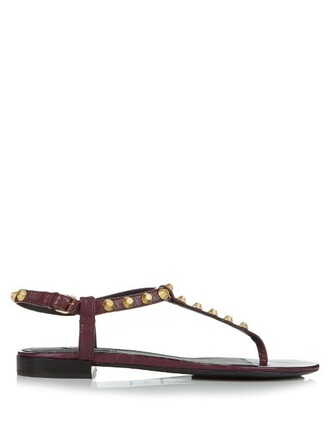 studded sandals leather sandals leather burgundy shoes